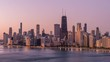 Chicago Lake Shore Skyline at Sunrise
