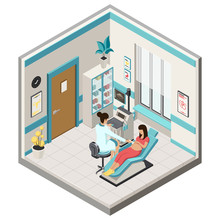 Isometric Illustration Pregnan...