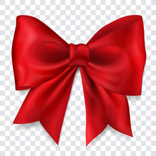 Beautiful Big Bow Made Of Red ...