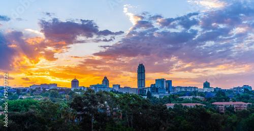 Sandton Johannesburg  sunset twilight