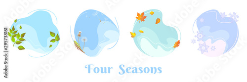Four seasons sky round concepts Fotobehang