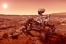 The Rover Explores The Planet ...