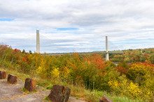 Penobscot Narrows Bridge And Observatory On An Autumn Day