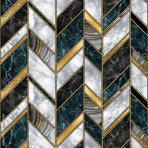 seamless abstract art deco background, modern mosaic inlay creative texture, marble granite agate gold, artistic painted marbling, artificial stone, marbled tile surface, fashion marbling illustration