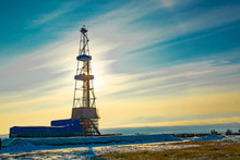 Oil And Gas Drilling Rig In Th...
