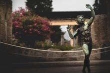 Dancing Faun Statue In Pompeii