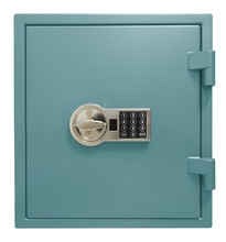Small Blue Safe Box Isolated With Clipping Path Included