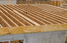 A Pattern Of Floor Joist In A New Construction