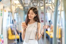 Young Asian Woman Passenger Li...