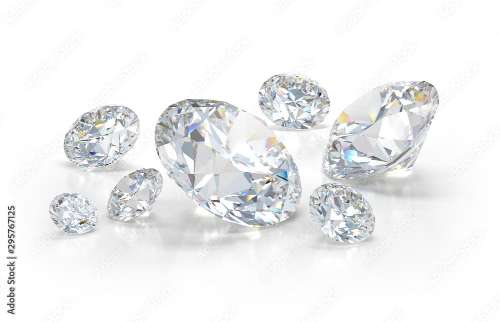 Fototapeta Lots of beautiful diamonds