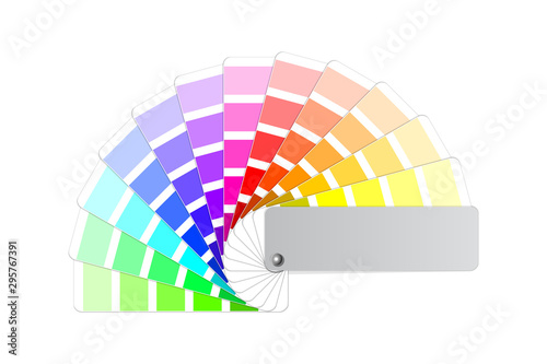 Leinwand Poster color palette guide, light and shades tint colored fanned sample swatch book, st