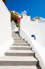 White Cycladic Architecture On...
