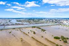 利根川中流域の増水を...