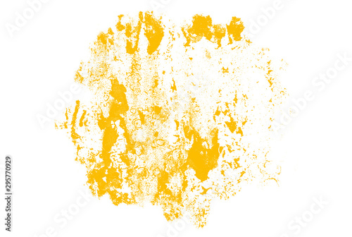 Abstract yellow watercolor background - 295770929