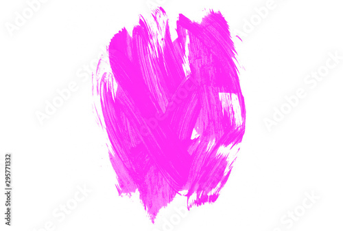 Papiers peints Pansies Pink watercolor stains background. Pink brush