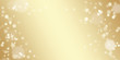 Christmas golden background. Abstract golden background for christmas and new year holidays. Flickering golden lights and stars. Blurred bokeh.