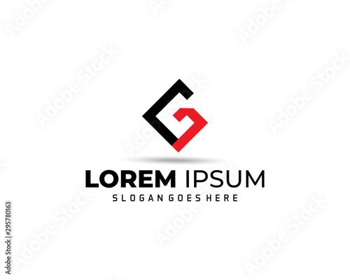 Photographie Letter G Modern Shape Logo Design Template Element