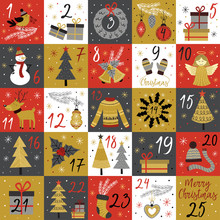 Advent Calendar With Christmas...