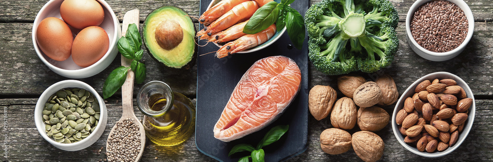 Fototapety, obrazy: Food sources of omega 3