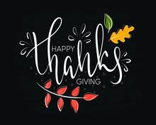 Hand Drawn Thanksgiving Typogr...