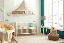 Cute Nursery Interior With Com...