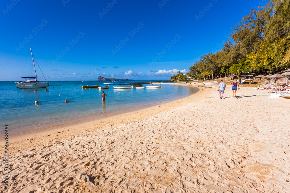 Fototapety, obrazy: beach of Coin de Mire, Mauritius