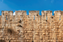 The Wall In Jerusalem Old City Fortress Wall In Old City Jerusalem, Israel.