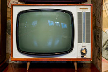 Vintage Television Set At The ...