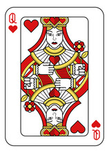 A Playing Card Queen Of Hearts...