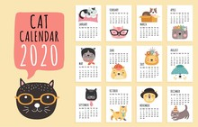 Cat Calendar. 2020 Monthly Pla...