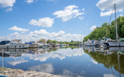 Fotografie, Obraz  The marina in the Old Arm of the Gloucester Sharpness Canal at Sharpness, Glouce