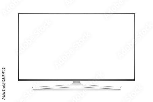 Fotografía TV 4K flat screen lcd or oled, plasma realistic illustration, White blank HD mon