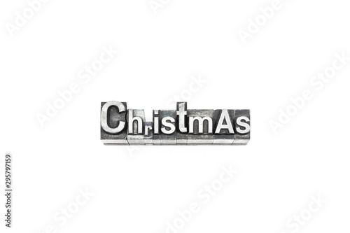 movable type Christmas text Slika na platnu