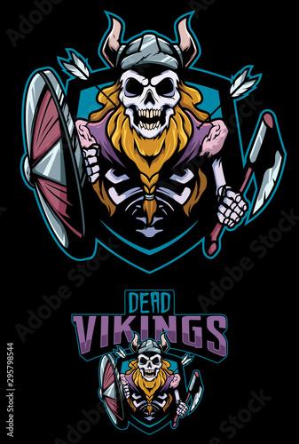 Tela  Dead Vikings Mascot
