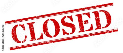 Obraz closed stamp. closed square grunge sign. closed - fototapety do salonu