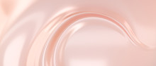 Liquid Subtle Pink Background, Cosmetic Cream Texture, Fluid Gentle Surface. 3d Illustration