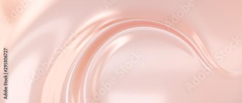 Liquid subtle pink background, cosmetic cream texture, fluid gentle surface Fototapet