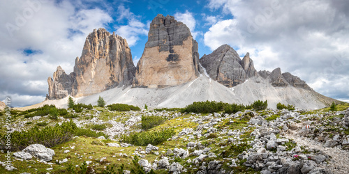 Tre Cime di Lavaredo Natural Park, Dolomites, South Tyrol, Italy Wallpaper Mural