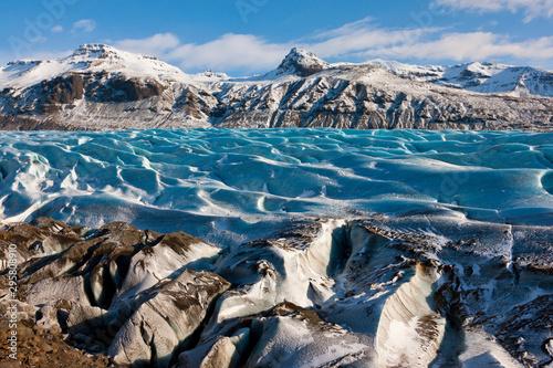 Cadres-photo bureau Aurore polaire Svinafellsjokull glacier, Skaftafell National Park, Southern Iceland, Iceland, Europe