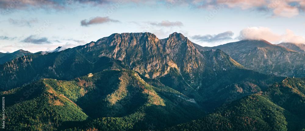 Fototapety, obrazy: Tatra mountains panorama. Zakopane town in Poland