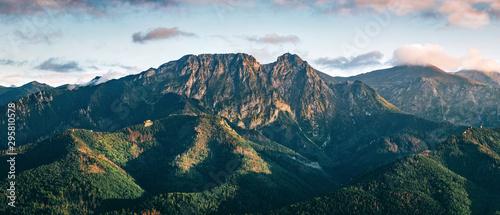 Fototapeta Tatra mountains panorama. Zakopane town in Poland obraz