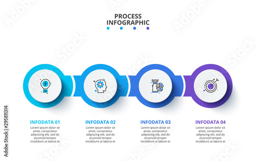 Photo  Creative concept for infographic
