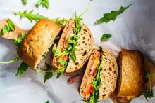 Sandwiches With Ciabatta, Chee...