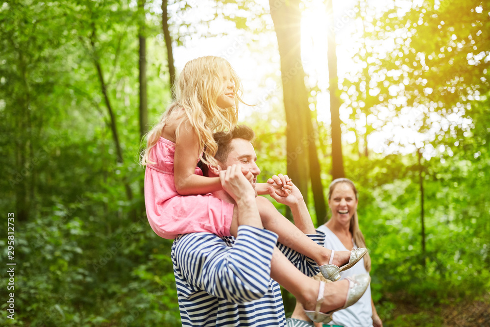Fototapety, obrazy: Family hiking in nature
