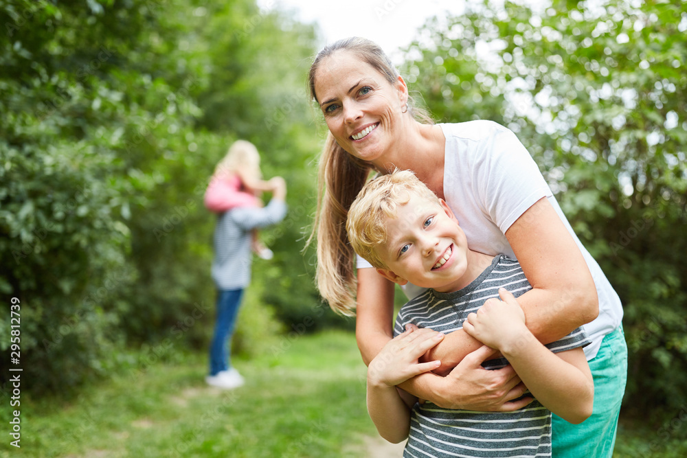 Fototapety, obrazy: Mother and son together on a trip