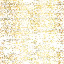 Gold Foil Grunge Texture Seamless Vector Background. Patina Scratch Golden Repeating Tile. Distressed Effect Texture. Overlay Distress Grain Graphic Design. For Elegant Card Design, Christmas, Wedding