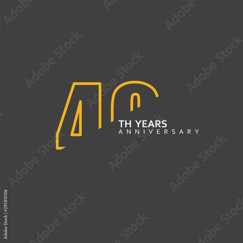Papel de parede  40 Year Anniversary Vector Template Design Illustration