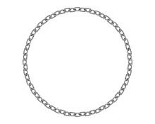 Realistic Metal Circle Frame C...
