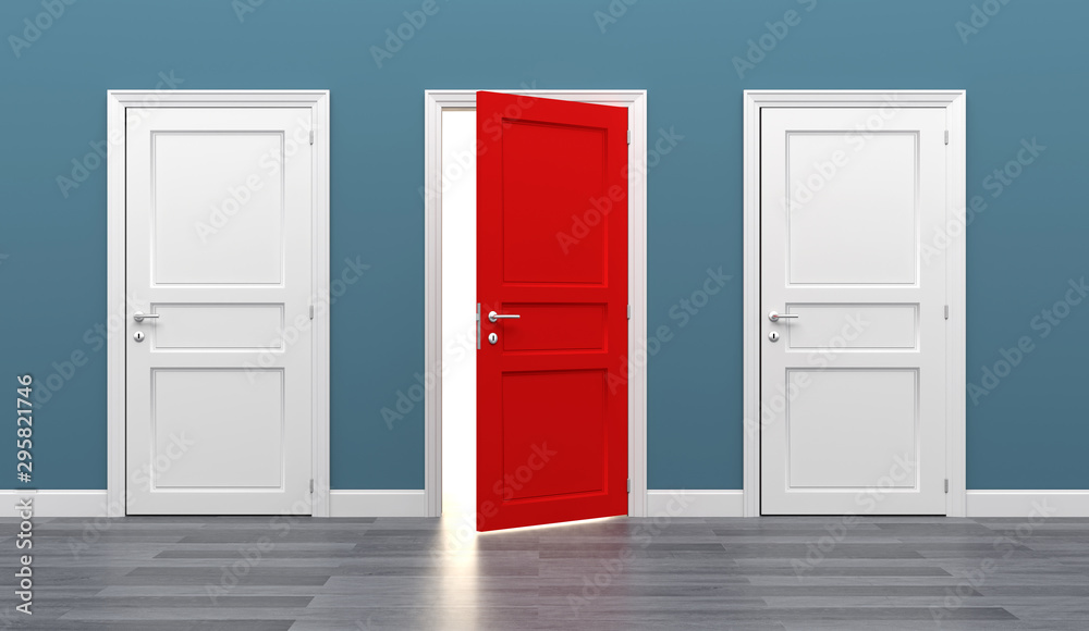 Fototapety, obrazy: door business destination opportunity exit different
