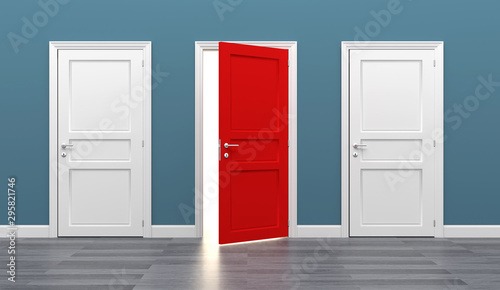door business destination opportunity exit different Canvas Print